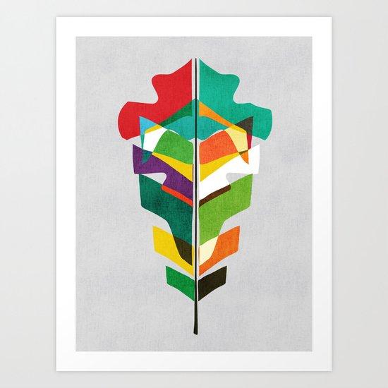 Before the last leaf falls Art Print