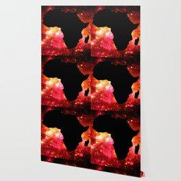 African Galaxy Red Orange Wallpaper