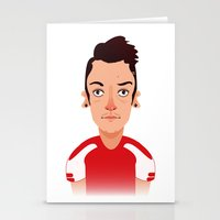 arsenal Stationery Cards featuring Mesut #11 by Alex Broad