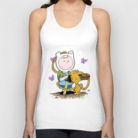 snoopy Tank Tops featuring Peanuts Time with Charlie and Snoopy by Ian Westart