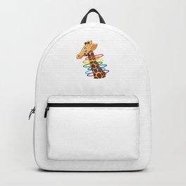 Giraffe Funny Animal Baton Twirler Hula Hoop Hula Hooping Gymnasts Wildlife Gift Backpack