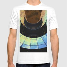 Southbank Building abstract White SMALL Mens Fitted Tee