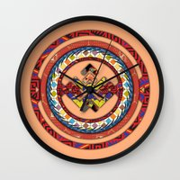 totem Wall Clocks featuring Totem by Robin Curtiss