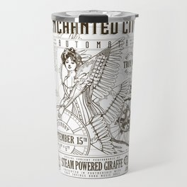 The Enchanted City 2018 Poster, black and white Travel Mug