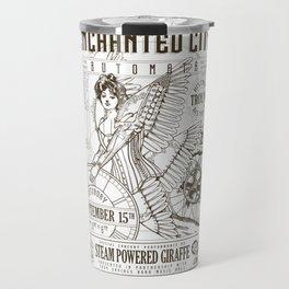 The Enchanted City 2018 Poster, black and white Travel Mug