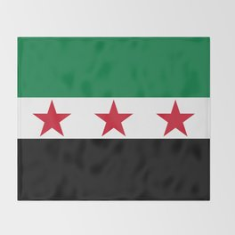 Syrian Independence Flag  High quality Throw Blanket