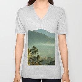Smoky Mountain Sunrise Unisex V-Neck