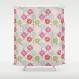 Lace&Rosaces Shower Curtain