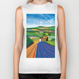 Lavender Farm Biker Tank