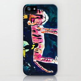 Toucan and Tiger in the Night Sky Painting iPhone Case