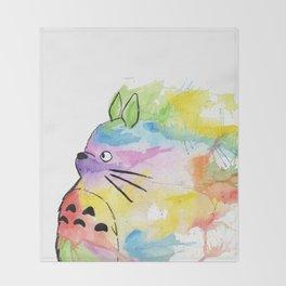 My Rainbow Totoro Throw Blanket