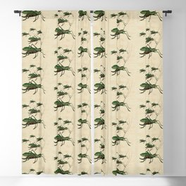 Grasshoppers on the March Blackout Curtain