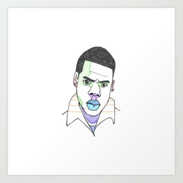 The Rapper-a-Day Project | Day 27: Jay Z Art Print