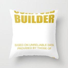 scaffolder scaffolding craftsman construction house Throw Pillow