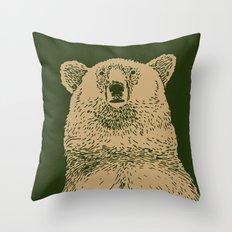 Kodiak Bear Throw Pillow