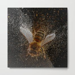 Bees Are Magic Metal Print
