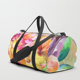 Tropical Hibiscus Garden Duffle Bag