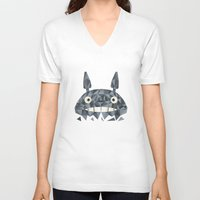 totes V-neck T-shirts featuring Totes by D. A. M. Good Prints