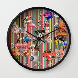 Weekend Away Wall Clock