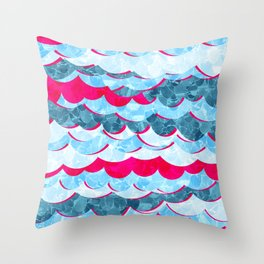 Abstract Sea Waves Design Throw Pillow