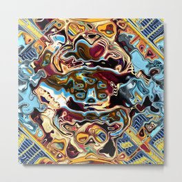 Chaotic Abstract Conglomeration Metal Print