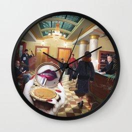 Grand International Hotel by Jeff Lee Johnson Wall Clock