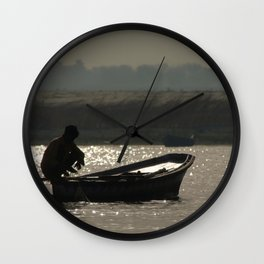 Perched on a Boat Wall Clock