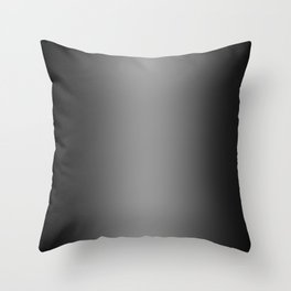 Black to Gray Vertical Bilinear Gradient Throw Pillow