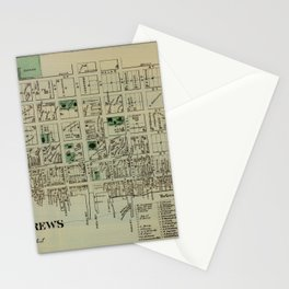 Map of Saint Andrews 1878 Stationery Cards