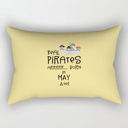 Real Pirates are born in MAY T-Shirt Dxdsj Rectangular Pillow