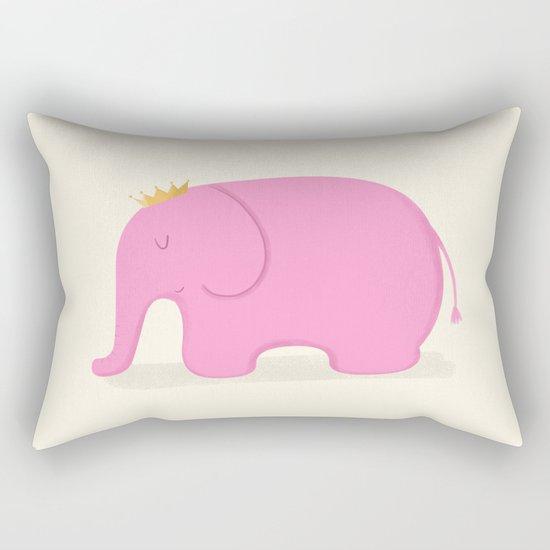 Queen Pink Elephant Rectangular Pillow