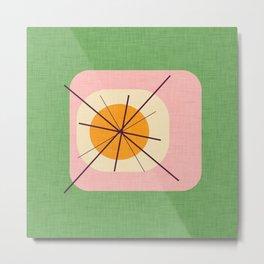 Flower Eggs Green-Pink Metal Print