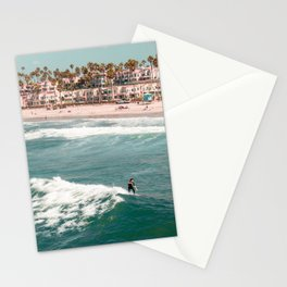 Oceanside beach surfers Stationery Cards