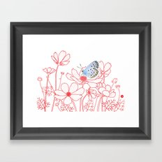 Cosmos and Butterfly Framed Art Print