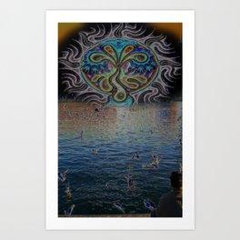 Perceptive view Art Print