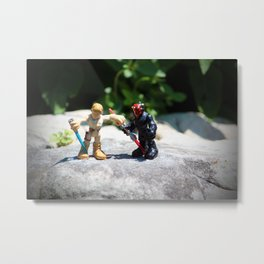 Action Figures Metal Print