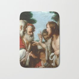 Bernardo Strozzi The Sermon of St. John the Baptist Bath Mat