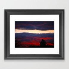 separation leaves ember in the sunsets Framed Art Print