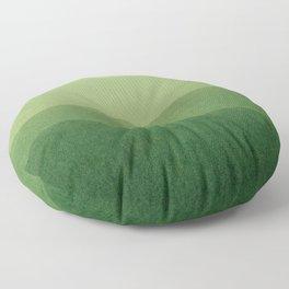 gradient landscape green Floor Pillow