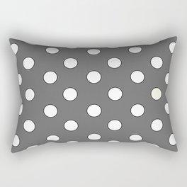 Grey Pastel Polka Dots Rectangular Pillow