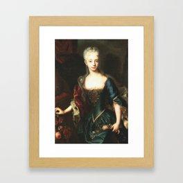 Maria Theresa before She Was Empress  Framed Art Print