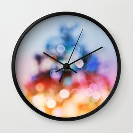 Xmas tree#abstract#bokeh Wall Clock