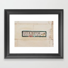 Carrer de petritxol Framed Art Print