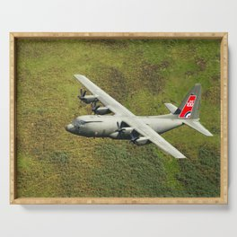 Low Flying Hercules With Special RAF Centenary Tail Art Serving Tray