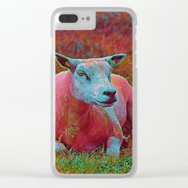 Popular Animals - Sheep Clear iPhone Case