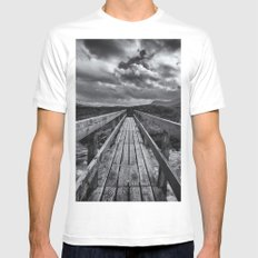 The Bridge MEDIUM White Mens Fitted Tee