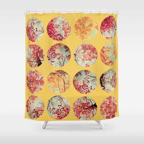 Sunflower Inkblot Shower Curtain