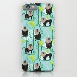 Lion tailed macaque iPhone Case
