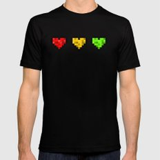 Pixel Reggae Mens Fitted Tee Black MEDIUM