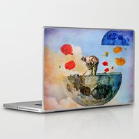 sia Laptop & iPad Skins featuring The gardener of the moon by Joe Ganech